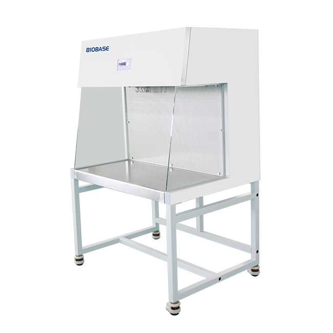 horizontal Laminar Flow Cabinet medical and health bright lab laboratory indoor with instruments test tubes