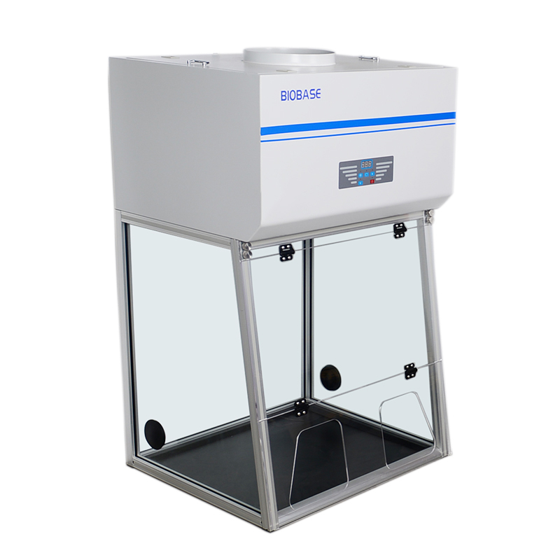Benchtop Fume Hood medical and health bright lab laboratory indoor with instruments test tubes